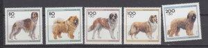 J29738 1996 germany set mnh #b792-6 dogs