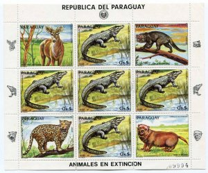 266613 Paraguay 1984 5 stamps set +S/S ANIMALS Fox ant-eater