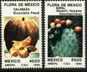 MEXICO 1434-1435, Flora of Mexico. MINT, NH. VF.