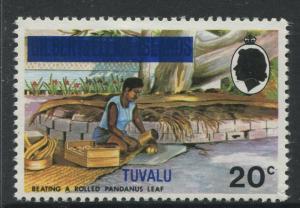 Tuvalu - Scott 10 - Gilbert & Ellice Overprint -1976 - MVLH - Single 20c Stamp