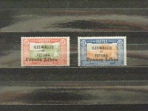 6370   Wallis Futuna   MH # 105, 106                CV$ 9.00