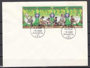 Libya, Scott cat. 1011. Scouting Anniversary on a Plain First day cover. *