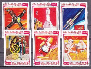 Ajman, Mi cat. 678-683 A. The Mars Project issue. Canceled. ^