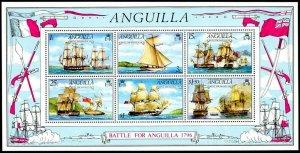 ANGUILLA - 1976 - SAILING SHIPS - WARSHIPS - BATTLE OF ANGUILLA - MNH S/SHEET!