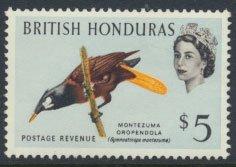 British Honduras SG 213 SC # 178 MLH  Birds Oropendola  see scans