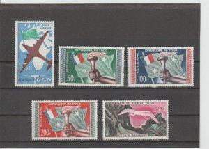 Togo  Scott#  C26-C30  MNH  (1959 Flag, Planes and Map)