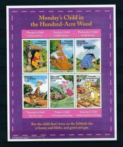 [22616] Grenada Grenadines 1997 Disney Winnie the Pooh and friends MNH