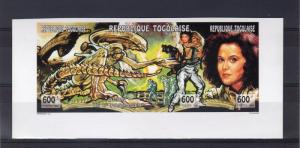 Togo 1994 Start Trek/Cinema Strip (3) IMPERFORATED  Mi.# 2219B/221B