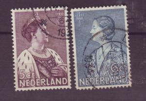 J15679  JLstamps 1934 netherlands set used #b70-1 royality