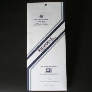 Showgard Stamp Mounts Size 66 / 240 mm BLACK Background Pack of 10