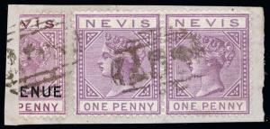Nevis Scott 31c Variety Gibbons F6a Variety Used Stamp