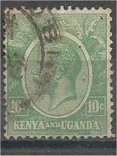 KENYA and UGANDA, 1927, used 5c, King George V, Scott 20