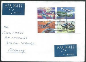 AUSTRALIA 1996 cover to Germany - nice franking - Sydney pictorial pmk.....53455