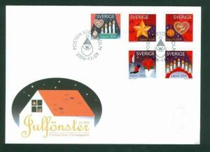 Sweden FDC Cachet Christmas 2006, Christmas Window  Decorations. See Description