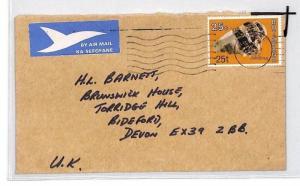 BOTSWANA Cover *Gabarone* Commercial Air Mail 1977 {samwells} Chrysotile CE204