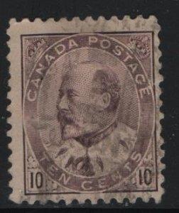 CANADA 93 U KING EDWARD VII (BROWN LILAC) 1903-08