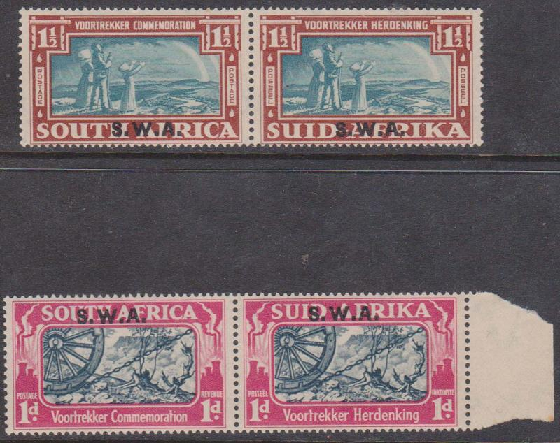 South West Africa - 1938 Voortrekker Bilingual Horiz. Pairs