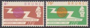 Brunei #116-17 F-VF Mint Hinged * ITU