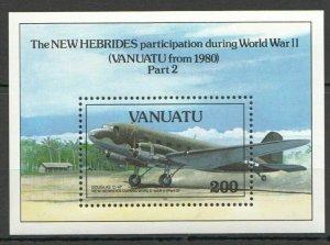 D596 1993 VANUATU AVIATION NEW HEBRIDES WORLD WAR II WWII BL FIX