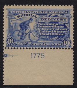 1902  Special Delivery  Sc E6  MH plate no.  CV $300