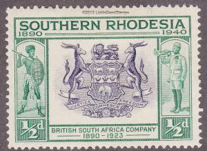 Southern Rhodesia 56 Seal of Br. South Africa 1940