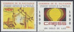 EL SALVADOR ELECTRIC LIGHT CO. CENT. Sc 1249-1250 MNH 1990