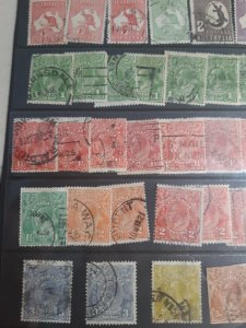 Australia stamp lot, used, early , h/nhmany issues