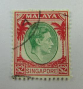 1937 Malaya Singapore  SC #19  KGVI used stamp