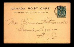 Canada 1910 Le Breton Flats DPO Crisp Cancel Card - L27896