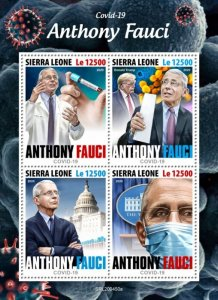 SIERRA LEONE - 2020 - Anthony Fauci, COVID-19 -Perf 4v Sheet - Mint Never Hinged