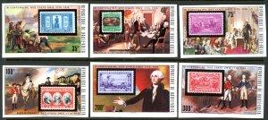 Upper Volta 352-7 USA Bicentennial stamp MNH mint imperf      (Inv 001282.)