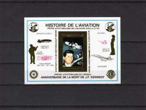 Chad 1995 Kennedy/Apollo 11/Elvis & Marilyn/Rotary-Lions Souvenir Sheet Deluxe