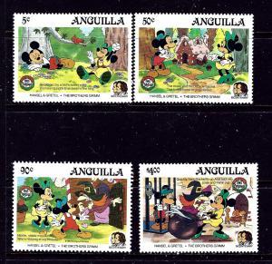 Anguilla 648-51 MNH 1985 Christmas (Disney Characters)
