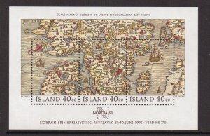 Iceland   #715  MNH  1990   sheet stamp day   Nordia `91