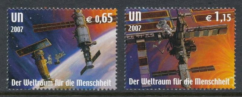 United Nations Vienna - Space for Humanity, MNH, Mi 518-519