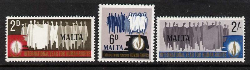 Malta 381-3 MNH International Human Rights Year
