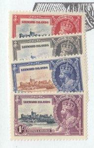 LEEWARD ISLANDS # 96-99 VF-MNH KGV SILVER JUBILEES (LWIS8)