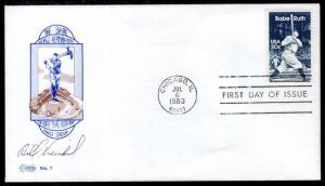 US 2046 Babe Ruth 1st Eastern U/A FDC