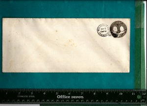 COLUMBIAN EXPO STAMPED ENVELOPE W/1893 SHOW STATION CANCEL