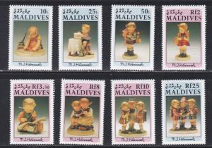 Maldive Islands # 1543-1550, Hummel Figurines, NH, 1/2 Cat.