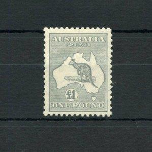 AUSTRALIA KANGAROO  SCOTT#128, SG#137   MINT LIGHT HINGED--SCOTT VALUE $700.00