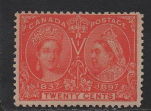 $Canada Sc#59 M/NH/F+, 20c Jubilee, AIEP Cert., Cv. $650