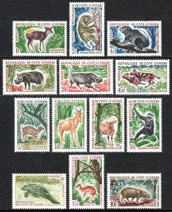 Ivory Coast 201-210,218-220, MNH. Wild Animals, 1963-1964