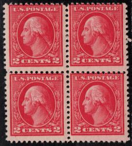 $US Sc#500 M/NH/F, rare block of 4, Miller Cert., CV. $2200