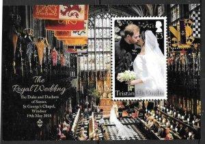 TRISTAN DA CUNHA 2018 ROYAL WEDDING  M/S MNH