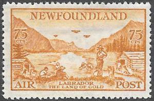 Newfoundland Airmail Stamp Scott Number C17 F HR