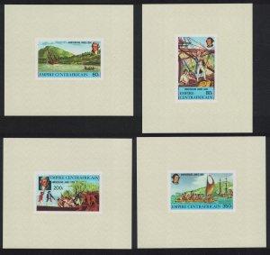 Central African Empire Captain Cook 4 De-Luxes 1978 MNH SG#578-581 MI#555-558