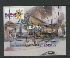 STAMP STATION PERTH Philippines #2531 Expo '98 Souvenir Sheet MNH CV$4.00