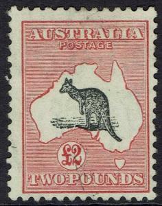 AUSTRALIA 1931 KANGAROO 2 POUNDS WMK C OF A USED
