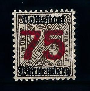[69294] Germany Württemberg 1919 Official Stamp OVP 75 Pf MNH Original Gum